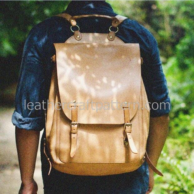 Leather Bag Pattern Pdf Free Leather Backpack Pattern Bag Sewing Pattern Pdf Download