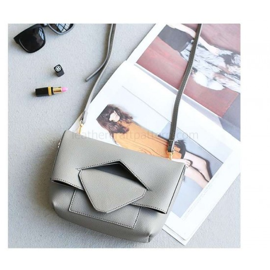 With instruction - leather foldover bag pattern PDF instant download ACC-67 leathercraft pattern leather craft pattern leather template