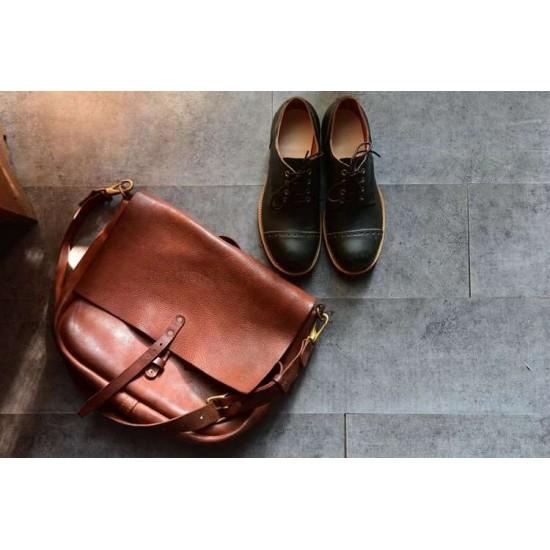 With instruction - leather messenger bag pattern RRL bag PDF download ACC-69 leather plans