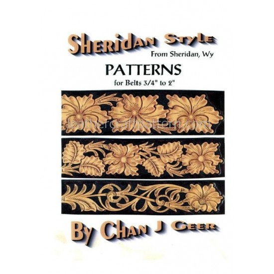leather belt tooling pattern, Sheridan belt patterns, by Chan Geer, instant download