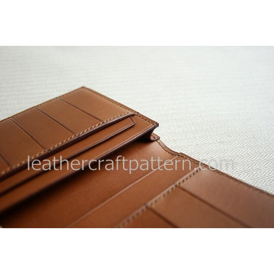 bag stitch patterns long wallet pattern PDF LWP-23 leather craft leather working leather working patterns bag sewing