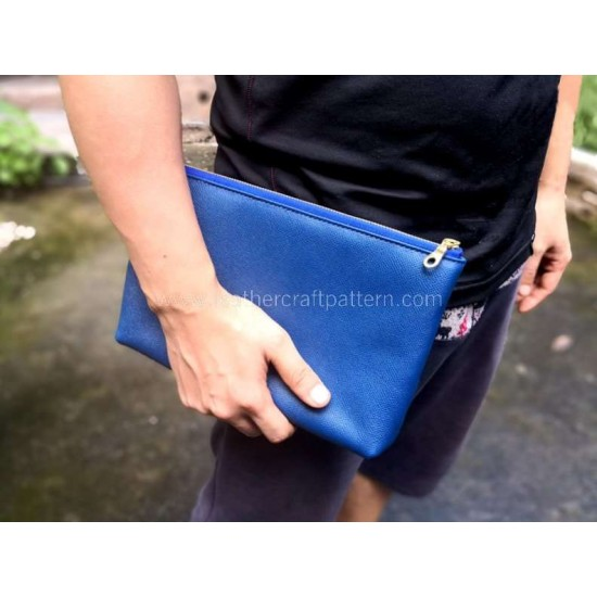With instruction - Leather clutch pattern PDF instant download LWP-39