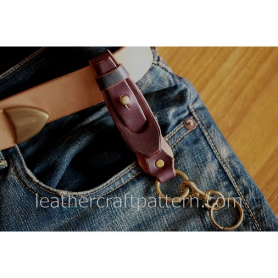 Leather bag pattern, key holder pattern, SLG-08, PDF instant download, leather craft patterns, leather patterns, leather template