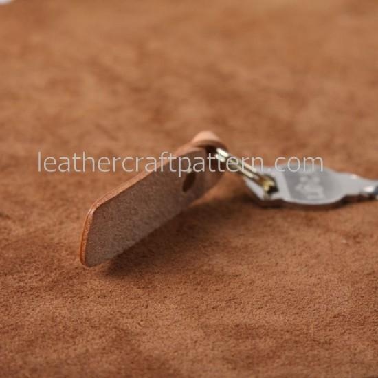 bag sewing pattern key pendant pattern leathercraft patterns SLG-19