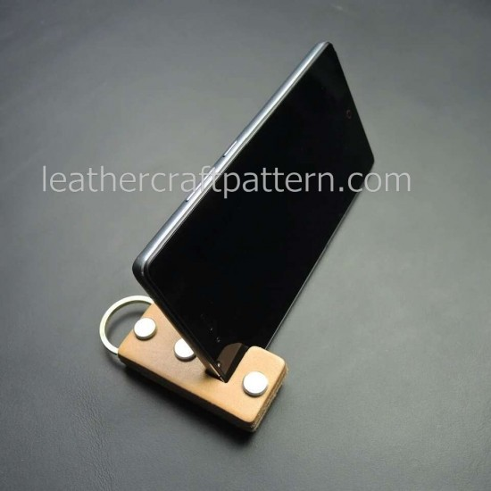 Leather cell phone stand pattern PDF instant download SLG-28