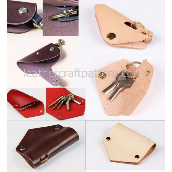 3 in 1, Sewing patterns key purse key case key holder patterns leather bag patterns PDF instant download SLG-29 LCP design