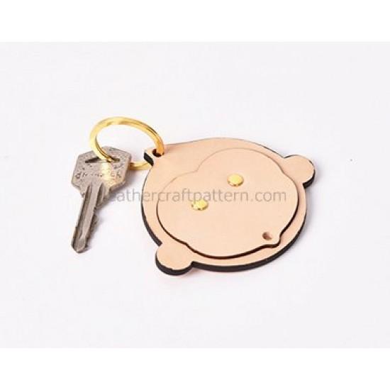 Leather key fob key pendant pattern SLG-33 PDF instant download, leathercraft patterns, leather patterns, leather template