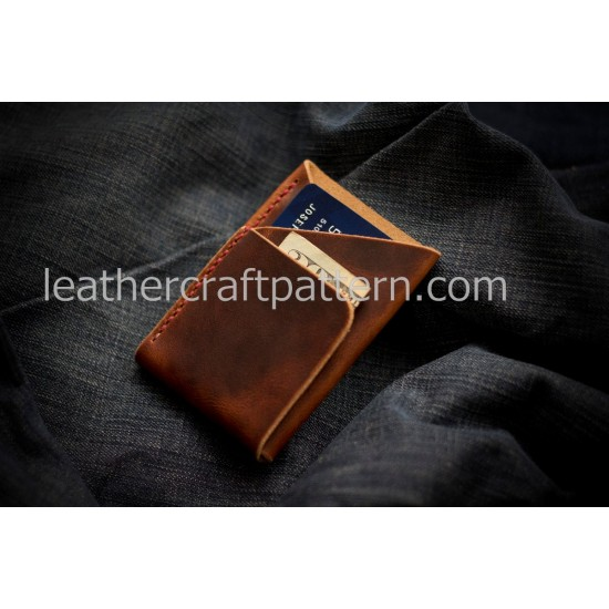 Leather patterns card holder pattern card protector SLG-42 PDF instant download leather craft patterns leather patterns leather template