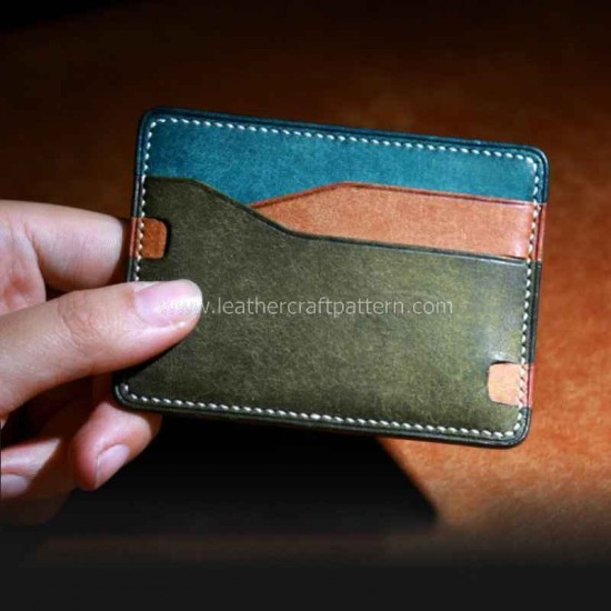 Leather Card sleeve pattern PDF instant download SLG-78