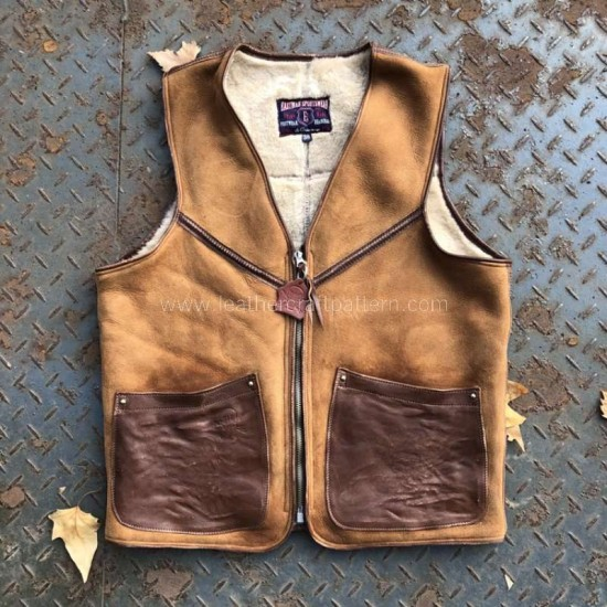 Leather vest pattern pdf instant download SLG-88