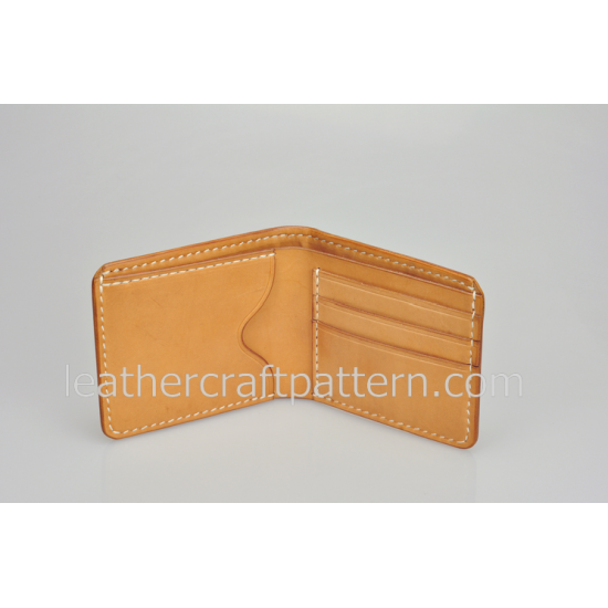 Leather wallet pattern, SWP-01, billfold, short wallet patterns, PDF instant download, leathercraft patterns, leather craft patterns. leather working template