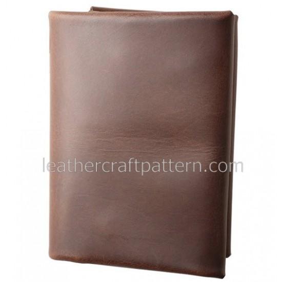 Leather wallet pattern, SWP-04, billfold short wallet patterns, PDF instant download, leathercraft patterns, leather craft patterns. leather working template