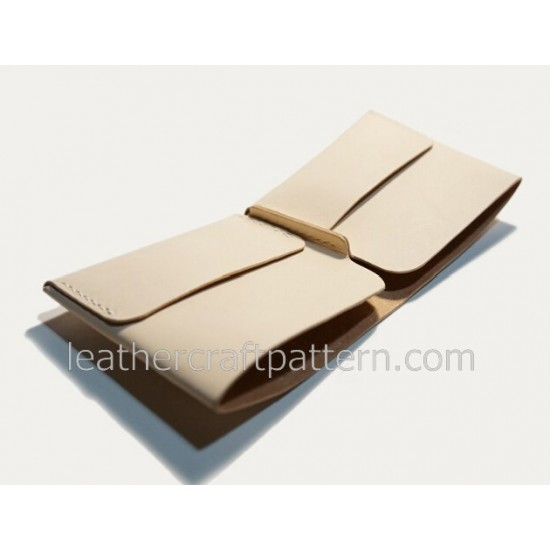 bag sewing patterns short wallet patterns card holder pattern PDF SWP-06 leather craft leather working pattern