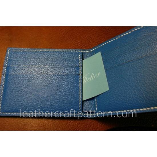 bag sewing patterns short wallet patterns PDF SWP-11 leather craft leather working leather working patterns bag sewing